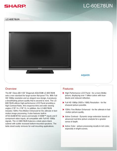 sharp aquos lc c3242u pdf manual