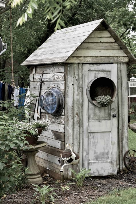Shed in garden Image