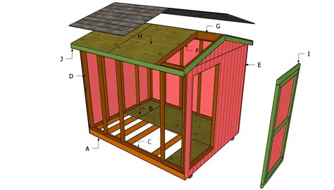 Shed plans 8 x 6 Image