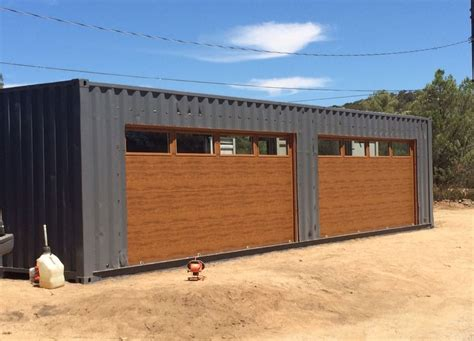 Shipping container garage design Image