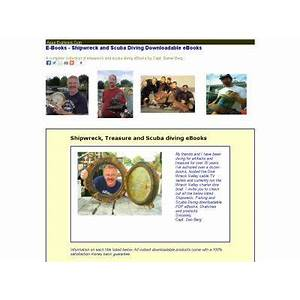 Guide to shipwreck, treasure and scuba diving ebooks