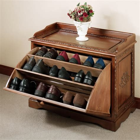 Shoe rack designs wood Image