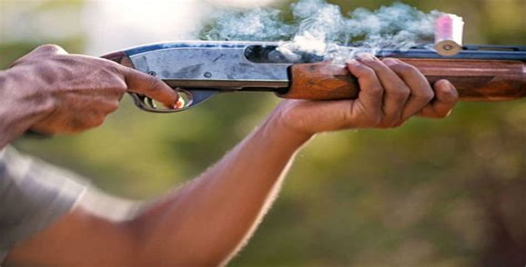 Shooting A Shotgun At Night
