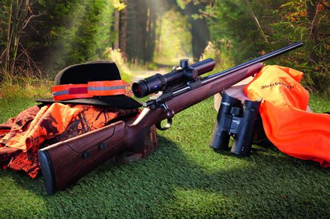 Shooting Bolt Action Rifle