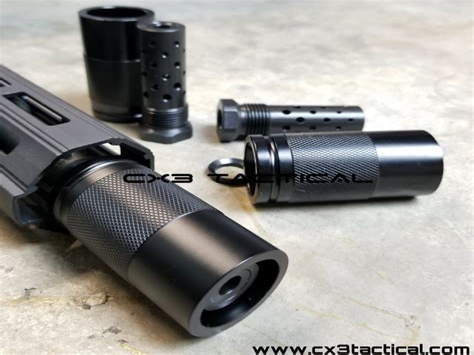 Short Barrel Rifle 308 Muzzle Flash