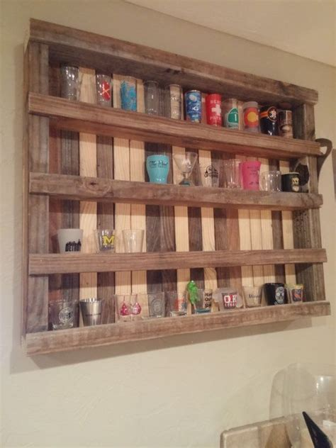 Shot glass display case woodworking plans Image