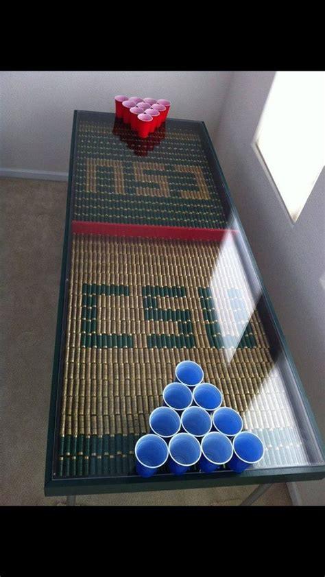 Shotgun Shell Beer Pong Table And Shotgun Shell Compressor