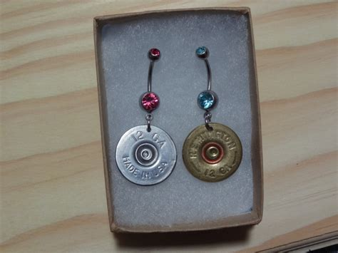 Shotgun Shell Belly Button Ring