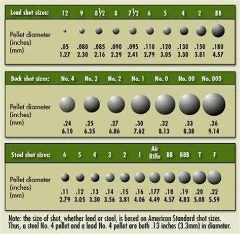 Shotgun Shot Size Chart