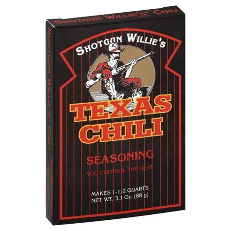 Shotgun Willie Chili Seasoning Kits