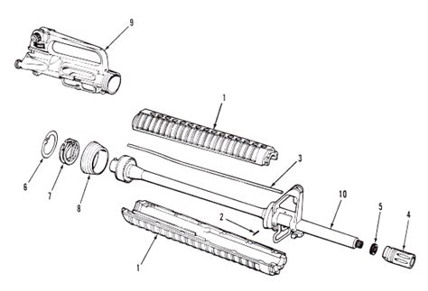 Show Diagram Of Ar 15 Stripped Upper Receiver Parts Assembly