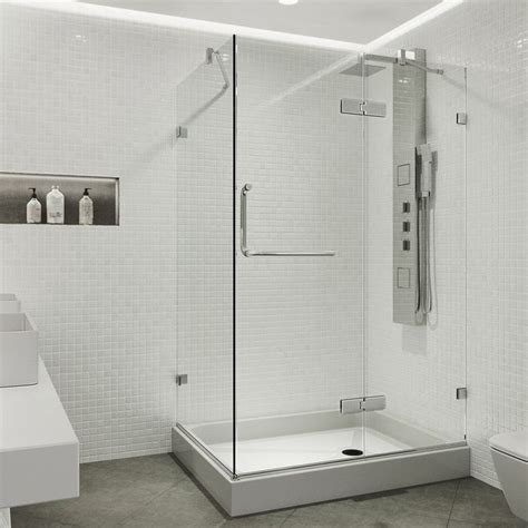 "Shower 48.125"" x 73"" Rectangle Pivot Shower Enclosure with Base Included"