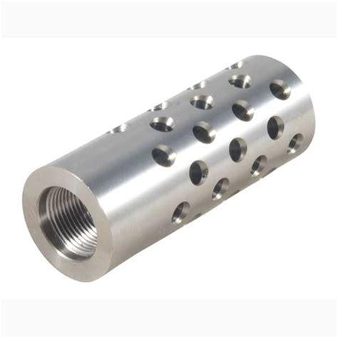 Shrewd 4 Muzzle Brake 22 Caliber 4 Muzzle Brake 22 Caliber 91624 Chrome Moly Silver