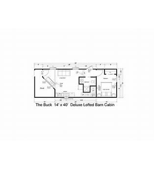 Side Lofted Barn Cabin Floor Plans