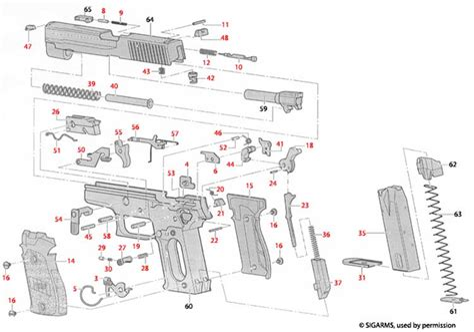 Sig P226 Parts Breakdown