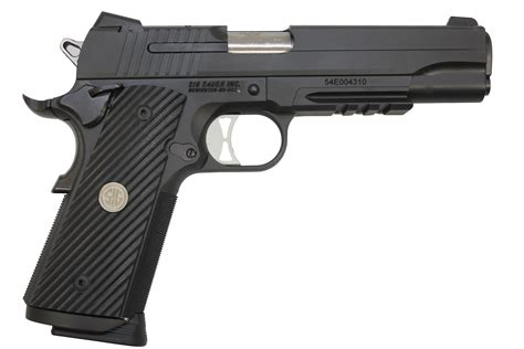 Sig Sauer 1911 Tactical Operations Pistol And Sig Sauer 1911 Two Tone Crimson Trace