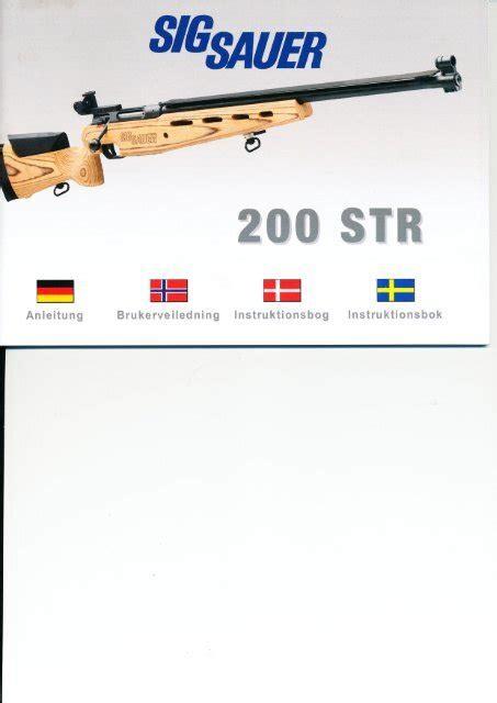 Sig Sauer 200 Str Manual