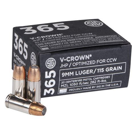 Sig Sauer 365 9mm Ammo