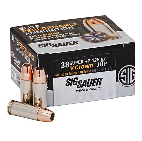 Sig Sauer 38 Super Elite V Crown Ammo