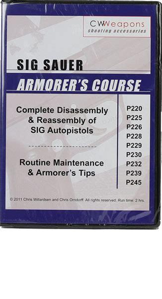 Sig Sauer Armorer S Course Dvd P Series