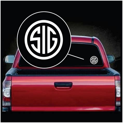 Sig Sauer Car Stickers
