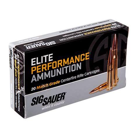 Sig Sauer Elite Match Grade Ammo 308 Winchester 168gr Otm 308 Winchester 168gr Open Tip Match 200case