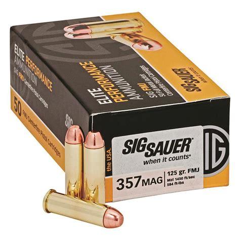 Sig Sauer Elite Performance 357 Sig 125gr Fmj Ammo 50