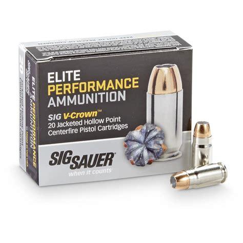 Sig Sauer Elite Performance 357 Sig 125gr Vcrown Jhp Ammo