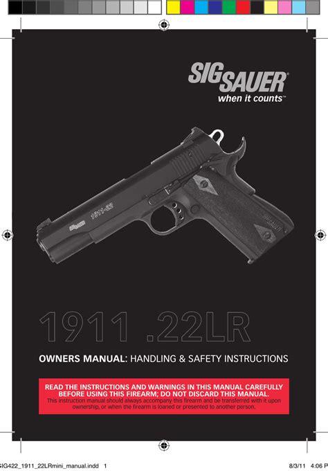 Sig-Sauer Sig Sauer Manual.