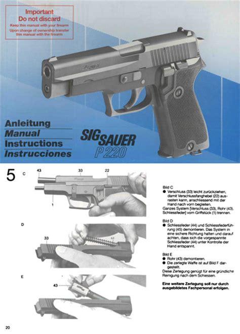 Sig-Sauer Sig Sauer P220 Compact Operators Manual.
