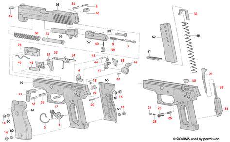 Sig Sauer P220 Explosionszeichnung - Brownells Deutschland