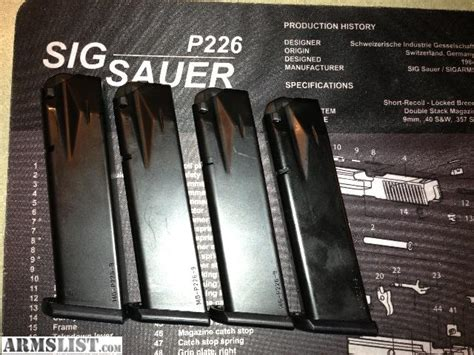 Sig-Sauer Sig Sauer P226 Checkmate Magazines For Sale.