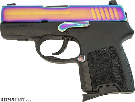 Sig-Sauer Sig Sauer P290rs 9mm Rainbow Titanium.