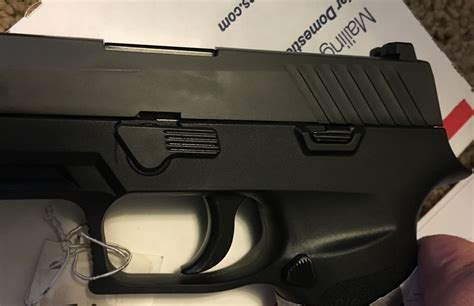 Sig Sauer P320 Slide Release Issues