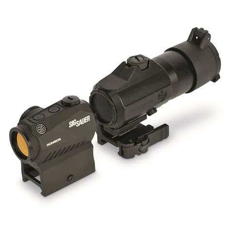Sig Sauer Romeo5 Red Dot Sight With Juliet3 Magnifier Romeo5 Red Dot Wjuliet 3 3x Magnifier