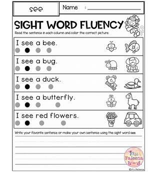 Sight Words Activities For Preschoolers
