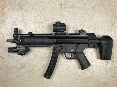 Silenced Mp5 With Working Flashlight
