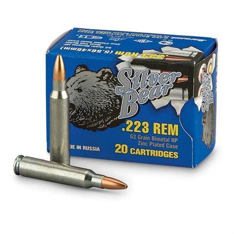 Silver Bear 223 5 56x45mm Remington 62 Grain Hp Ammo