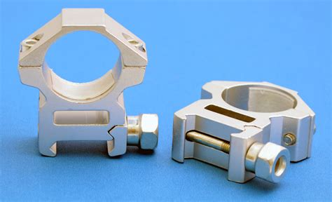 Silver Rifle Scope Rings