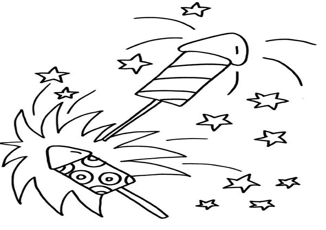 Silvester Raketen Ausmalbilder