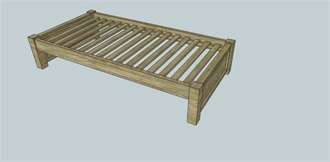 simple twin platform bed plans