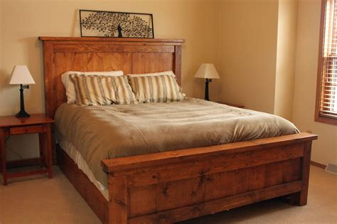 simple wood bed plans Image