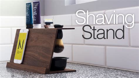 Simple diy shaving stand easy woodworking projects Image