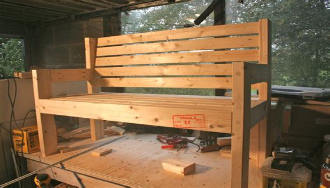 Simple garden bench plans Image
