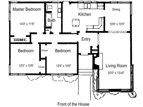 Simple home plans 3 bedroom Image