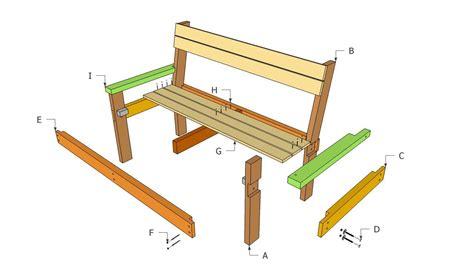 Simple park bench plans Image