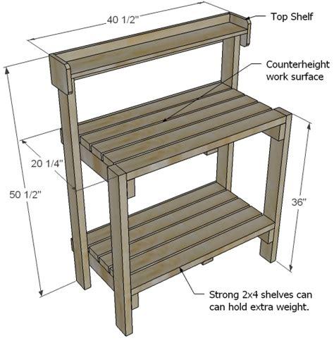 Simple potting bench plans Image