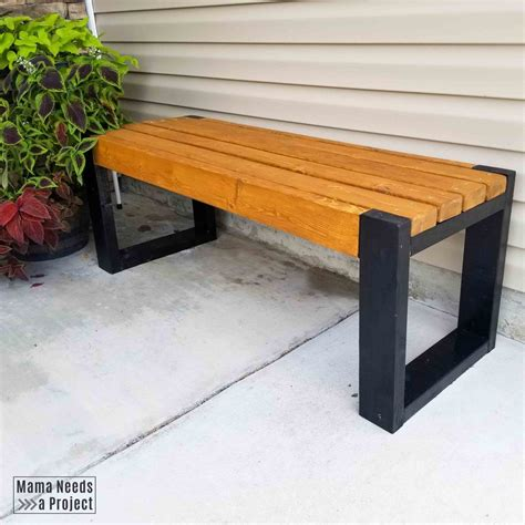 Simple wooden bench plans Image