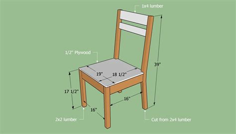 Simple wooden chair plans Image