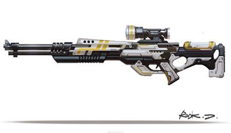 Simplistic High Tech Future Sniper Rifles Drawing